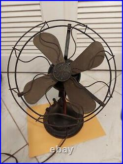 Antique Early 1900's General Electric Table Top Fan