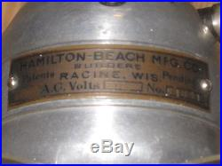 Antique Early 1900's Hamilton Beach The Cyclone Nickel Plated 8 Electric Fan