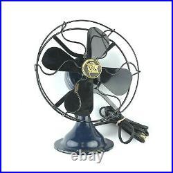Antique Early 1930s Robbins & Myers 1- Speed 12 Industrial Fan DARK BLUE #5004