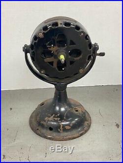 Antique Early GE Pancake Electric Fan Motor Base And Yoke Runs