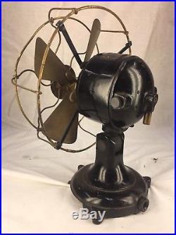 Antique Eck 8 Type 22 Brass Blade electric fan