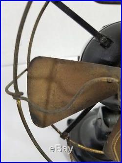 Antique Eck Dynamo & Motor Co. Hurricane 8 Electric Fan c1915 Type 22
