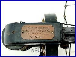 Antique Edison Bipolar Electric Fan Vintage 1890's Rare Original Works See Video
