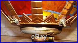 Antique Edwin Guth Art Deco Ceiling Fan Light Fixture Slip Shade Model R-3205