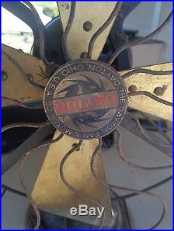 Antique Electric Fan, Brass Blade Fan, Dayton Type 267