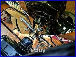 Antique Electric Fan Brass Blade R&M Vintage Old Oscillating