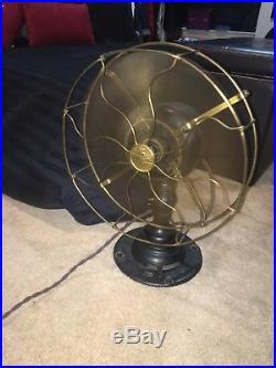 Antique Electric Fan Brass Blades Emerson Fan 285306 1914 Fan Type 21646