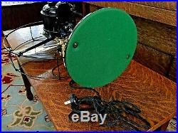 Antique Electric Fan Century Brass blade Oscillating Vintage Old industrial