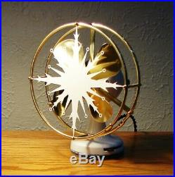 Antique Electric Fan Polar Cub Snowflake Type D 2 Speed LIKE NO OTHER ON EARTH