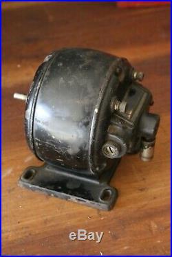 Antique Electric Motor Pancake Fan industrial Glass Window coin op steam engine