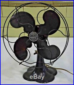 Antique Electric fan Emerson Seabreeze 3250B 1936 10 steel blade -Works PERFECT