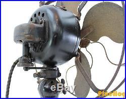 Antique Emerson 12 Inch Electric Fan Model 29646 Brass Blades Vintage Art Deco