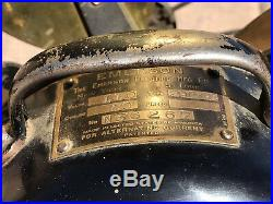 Antique Emerson 16 Brass Fan Vintage 1920's 3 Speed Osillating 29648