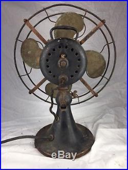 Antique Emerson 26646 Non-oscillator Brass Blade Electric Fan