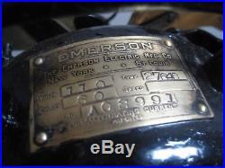Antique Emerson 27646 12 Inch Brass Blade Fan Runs As Is Wont Rotate