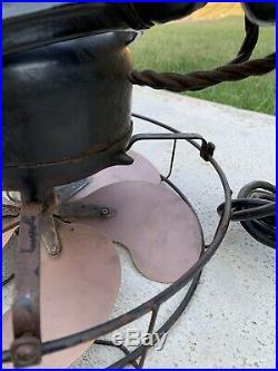 Antique Emerson 3 Speed 12 6 Brass Blades Working