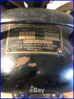 Antique Emerson 6 Blade Electric Fan 16 #29668 Brass Blades
