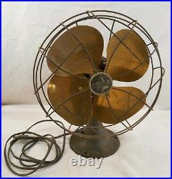 Antique Emerson 6250-F Oscillating Brass Fan