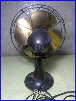 Antique Emerson 6250-H Brass Blade Fan Electric