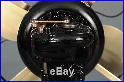 Antique Emerson Brass Blade Fan 1910-1911 Model 12646 Rare Top Oscillator