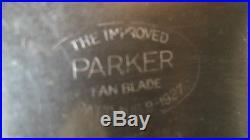 Antique Emerson Brass Blade Fan #29646 Circa 1931 3 Speed Oscillator Nice