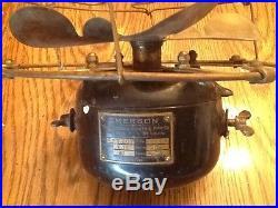 Antique Emerson Brass Fan Parker Blades
