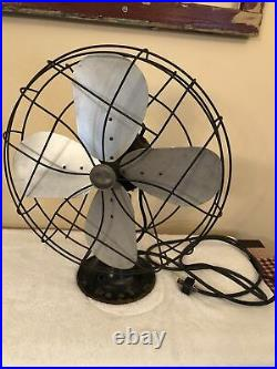 Antique Emerson Electric 16 Oscillating Industrial Fan 79648 AN Works