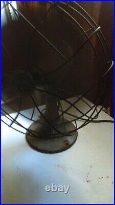 Antique Emerson Electric Brass Blade 11 1/2 fan runs great