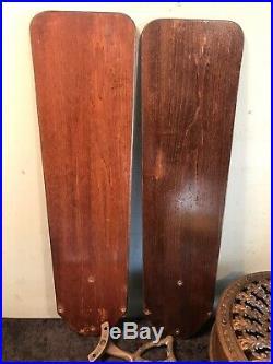 Antique Emerson Electric Ceiling Fan Ornate Fern Leaf 4 Blade