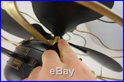 Antique Emerson Electric Metal Blade Fan Pancake Motor Type 19646