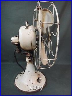 Antique Emerson French Gray 6 Brass Blade Fan 71666 Parker Blades Not Work