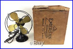 Antique Emerson Northwind 10 Electric Oscillating Fan 3 Speed with ORIGINAL BOX