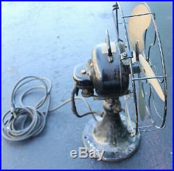 Antique Emerson Type 27646 Electric Fan 13 Art Deco 4 Blade Brass 60 Cycles