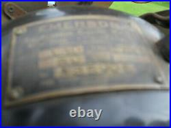 Antique Emerson six brass blade 6 blade big motor 27666 oscillating electric fan