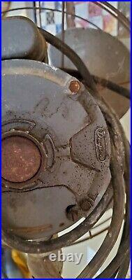 Antique FASCO Arcticware Cast Iron Floor Fan Canton NC 60 Tall