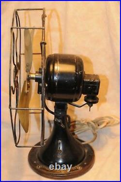 Antique Fan Brass Blades Vintage Wagner Model 9250 Oscillating Electric Fan Rare
