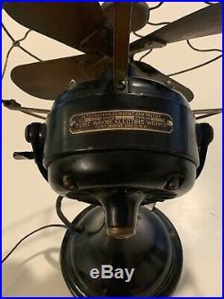 Antique Fan Cir. 1912 Fort Wayne Electrical Works GE 100% Original