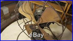 Antique Fidelity Electric Fan 12 Brass Blade Oscillator Lancaster Pa Project