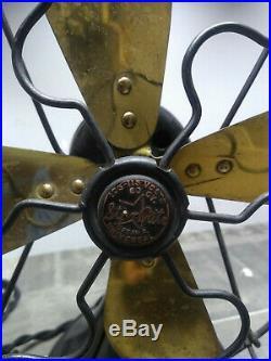 Antique Fitzgerald Star Rite Fan REWIRED Brass Blades