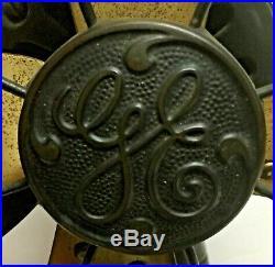 Antique G. E. Brass Blade Electric Fan