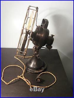 Antique GE 12 Brass Blade Fan