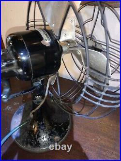 Antique GE 12 Osciillating Fan. 3 Blade