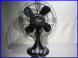 Antique GE 12 Oscillating Electric Fan CAT. 49X929 Working PICK-UP ONLY