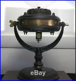 Antique GE 12 Pancake Motor Fan, Swivel-Trunnion, Motor Pat. 1890, Runs Great