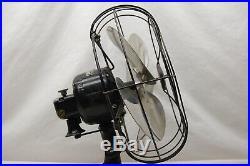Antique GE 12 fan 4 QUIET BLADE oscillating 3 speeds vintage 1930's WORKS