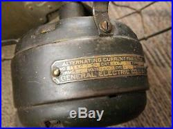 Antique GE Alternating Current Electric Fan Pat. Feb. 6, 1908 Type AVV cat 34017