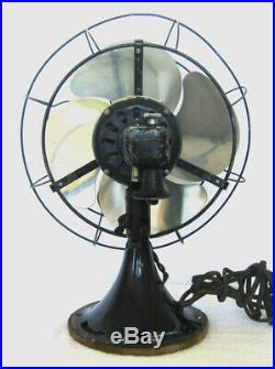 Antique GE Art Deco Vintage Oscillating Electric Fan Works A+ Wall Mountable