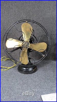 Antique GE Electric Fan Brass Cage and Blades