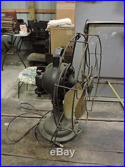 Antique GE Four Blade Brass Desk Fan, Osculating, 1918, Works, Old (BX)