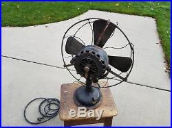 Antique GE General Electric 17 Fan Brass Blades & Hardware Pat. Date 1889-1901